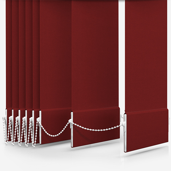 Touched By Design Optima Dimout Red Vertical Blind Replacement Slats