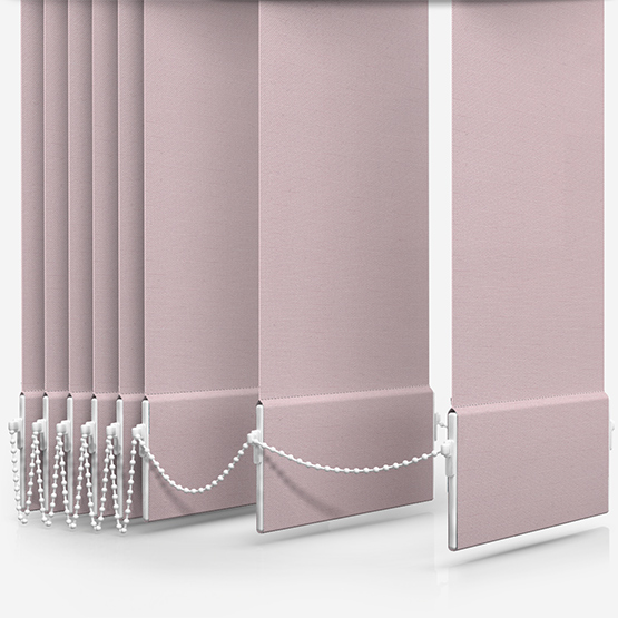 Touched By Design Supreme Blackout Peony Pink Vertical Blind Replacement Slats