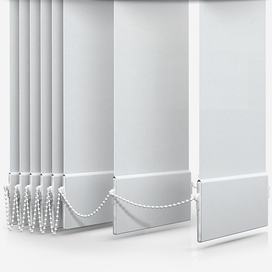 Supreme Blackout White Vertical Blind Replacement Slats