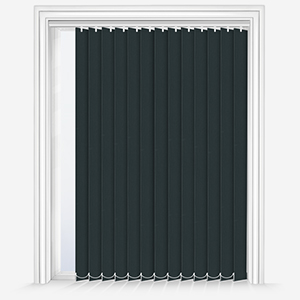 Touched By Design Absolute Blackout Black Vertical Blind