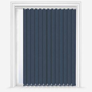 Touched By Design Absolute Blackout Navy Vertical Blind