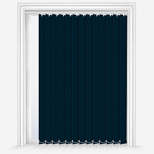 Touched by Design Deluxe Plain Azure Vertical Blind