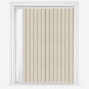 Touched by Design Deluxe Plain Cream Vertical Blind