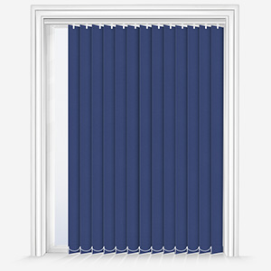 Touched by Design Deluxe Plain Denim Blue Vertical Blind