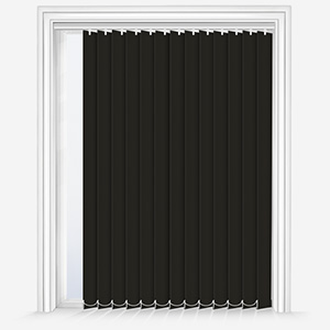 Touched by Design Deluxe Plain Espresso Vertical Blind