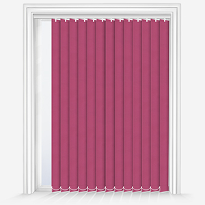 Touched by Design Deluxe Plain Hot Pink Vertical Blind