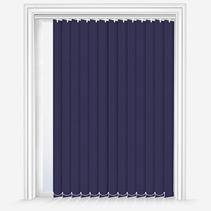 Touched by Design Deluxe Plain Indigo Vertical Blind