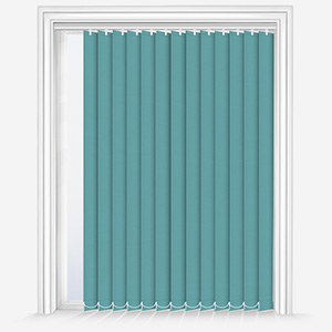 Touched by Design Deluxe Plain Ocean Green Vertical Blind