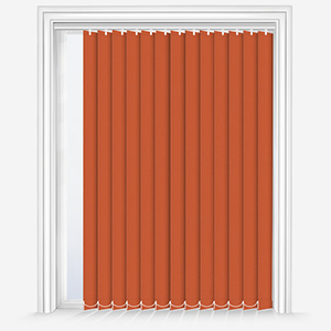 Touched by Design Deluxe Plain Orange Marmalade Vertical Blind