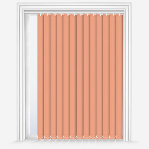 Touched by Design Deluxe Plain Papaya Vertical Blind