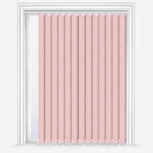 Touched by Design Deluxe Plain Peony Pink Vertical Blind