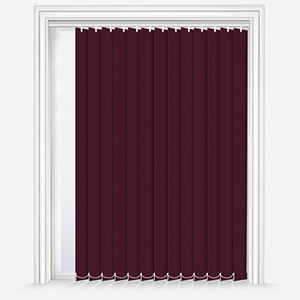 Touched by Design Deluxe Plain Plum Vertical Blind