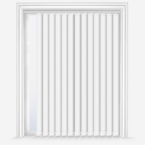 Touched by Design Deluxe Plain Porcelain White Vertical Blind