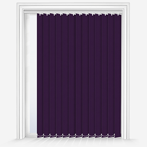 Touched by Design Deluxe Plain Purple Vertical Blind
