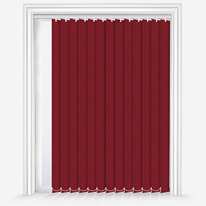 Touched by Design Deluxe Plain Red Vertical Blind