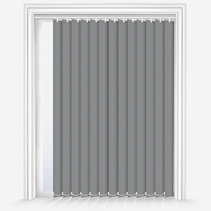 Touched by Design Deluxe Plain Storm Grey Vertical Blind