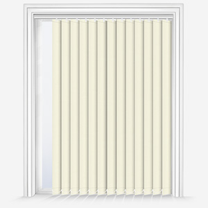 Touched by Design Deluxe Plain Vanilla Cream Vertical Blind