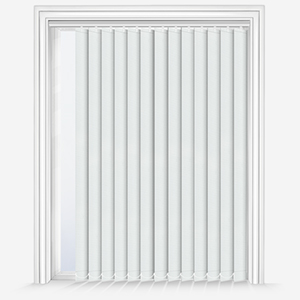 Touched by Design Deluxe Plain White Vertical Blind