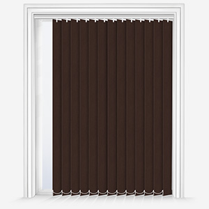 Touched By Design Optima Dimout Chocolate Vertical Blind