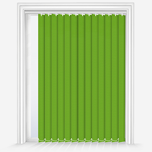 Touched by Design Supreme Blackout Apple Green Vertical Blind