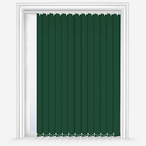 Touched by Design Supreme Blackout Forest Green Vertical Blind