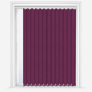 Touched by Design Supreme Blackout Plum Vertical Blind