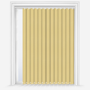 Touched by Design Supreme Blackout Primrose Yellow Vertical Blind