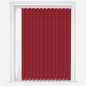 Touched by Design Supreme Blackout Red Vertical Blind
