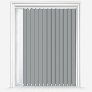 Touched by Design Supreme Blackout Storm Grey Vertical Blind