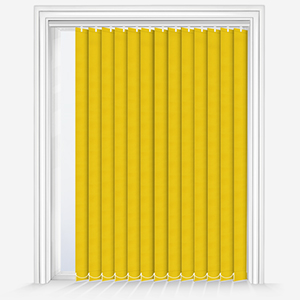 Touched by Design Supreme Blackout Sunshine Yellow Vertical Blind
