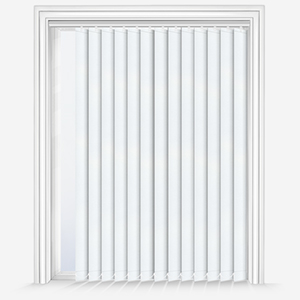 Touched by Design Supreme Blackout White Vertical Blind