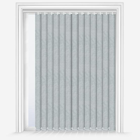 Louvolite Romany Light Grey vertical
