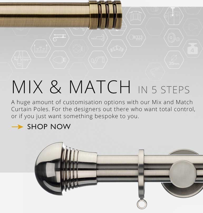 mix and match curtain poles