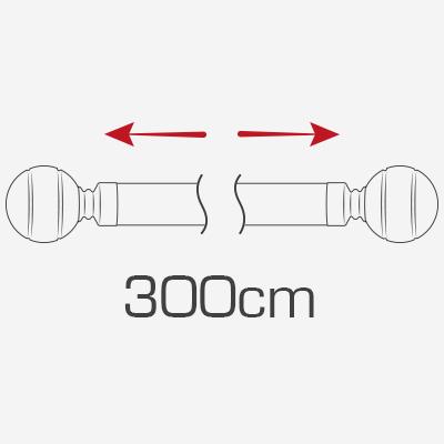 300cm curtain poles