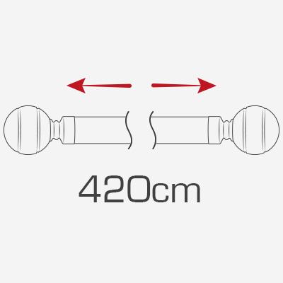 420cm curtain poles