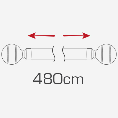480cm curtain poles