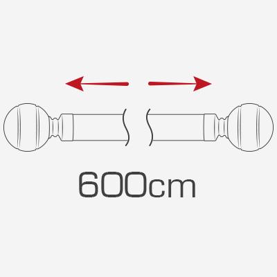 600cm curtain poles